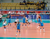 Volleyball match: Italy Stock Images