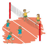 Volleyball match vector Royalty Free Stock Photos