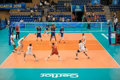 Volleyball match, World Cup Royalty Free Stock Photos