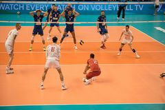 Volleyball match, World Cup Royalty Free Stock Photo