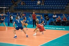 Volleyball match, World Cup Stock Photography