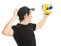 Volleyball men with the ball. Stock Images