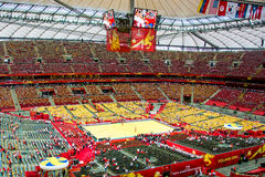 Volleyball Men's World Championship, opening ceremony, Warsaw, 30 August 2014 Royalty Free Stock Photography
