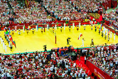 Volleyball Men's World Championship, opening ceremony, Warsaw, 30 August 2014 Royalty Free Stock Photo