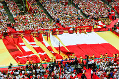 Volleyball Men's World Championship, opening ceremony, Warsaw, 30 August 2014 Stock Photos