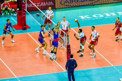 Volleyball Men's World Championship opening game Poland-Serbia, Warsaw, 30 August 2014 Stock Photography