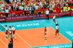 Volleyball Men's World Championship opening game Poland-Serbia, Warsaw, 30 August 2014 Stock Photo