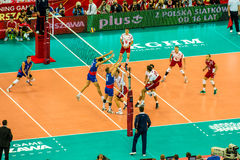 Volleyball Men's World Championship opening game Poland-Serbia, Warsaw, 30 August 2014 stock image