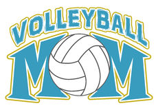 Volleyball Mom Design Stock Images