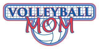 Volleyball Mom Design Royalty Free Stock Photo