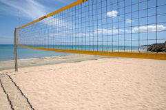 Volleyball net. On the beach royalty free stock photography