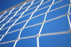 Volleyball Net. Part of Volleyball Net with Clear Blue Sky on Background royalty free stock image
