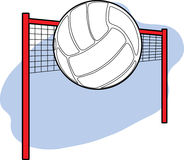 Volleyball and Net stock image