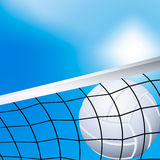 Volleyball in the net. Vector illustration of a flying volleyball in the net Stock Photography