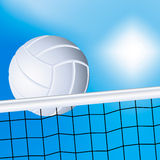 Volleyball and the net vector illustration