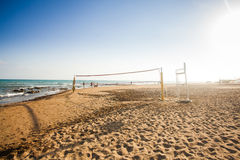 Volleyball net. Activity recreation Royalty Free Stock Photography