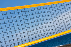 Volleyball net on  beach Royalty Free Stock Photo