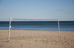 Volleyball net. On the beach Stock Photos