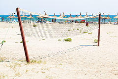 Volleyball net on a beach Royalty Free Stock Photography