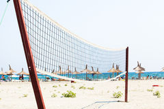 Volleyball net on a beach Stock Image