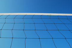 Volleyball net on the beach Stock Photos