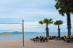chair volleyball net. volleyball net and beach chairs on the royalty free stock photo chair