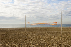 Volleyball net in the beach Stock Images