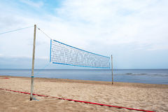 Volleyball net on beach.. Royalty Free Stock Photo