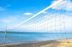 Volleyball net on the beach Royalty Free Stock Photography