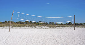 Volleyball net at a beach Royalty Free Stock Images