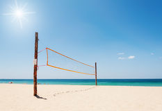 Volleyball net on the beach Stock Photography
