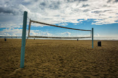 Volleyball net on the beach in Venice Beach  Royalty Free Stock Photo