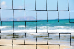 Volleyball net close-up Stock Images