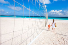 Volleyball net. Close up of a volleyball net at tropical beach royalty free stock photography