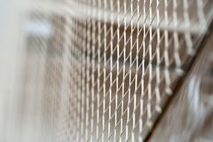 Volleyball net, in the gym. Close-up, in a covered room, Boke. Volleyball net, in the gym. Close-up, in a covered room. Boke royalty free stock photography