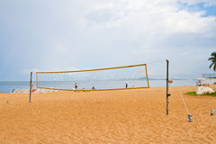 Volleyball net on Jomtien Beach, Pattaya, thailand Royalty Free Stock Image