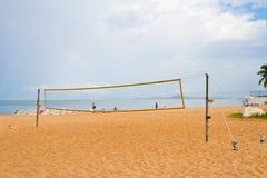 Volleyball net on Jomtien Beach, Pattaya, thailand Royalty Free Stock Image