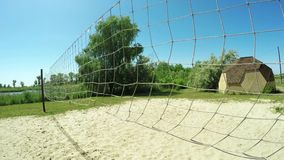 Volleyball net stock footage