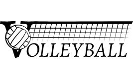 Volleyball Net With Text Royalty Free Stock Photos