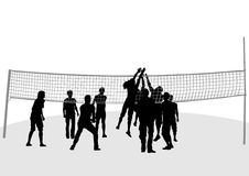 Volleyball nets Royalty Free Stock Photography
