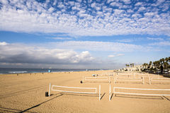 Volleyball nets on beach Stock Image