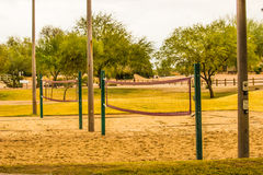Volleyball Nets At Local Park Royalty Free Stock Images