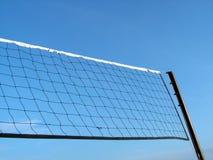 Volleyball netto met hemel Royalty-vrije Stock Afbeeldingen