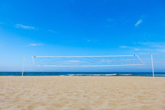 Volleyball netto op het strand Royalty-vrije Stock Fotografie