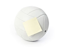 Volleyball note Royalty Free Stock Photos