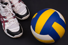 Volleyball objects. Royalty Free Stock Photos