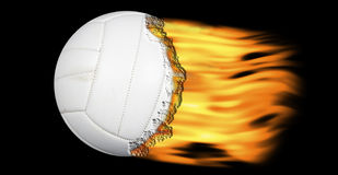 Volleyball op brand Stock Fotografie