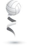 Volleyball op een lint Vector Illustratie