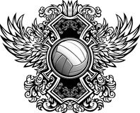 Volleyball Ornate Graphic Template royalty free illustration