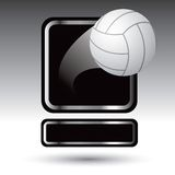 Volleyball over framed nameplate banner Stock Image